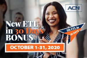 New ETL in 30 days bonus - October 1-31, 2020
